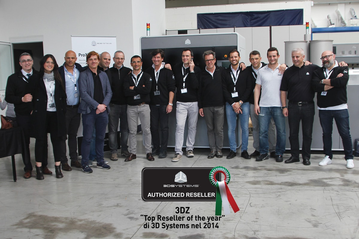 """3DZ """"Top Reseller of the Year"""" di 3D Systems nel 2014"""
