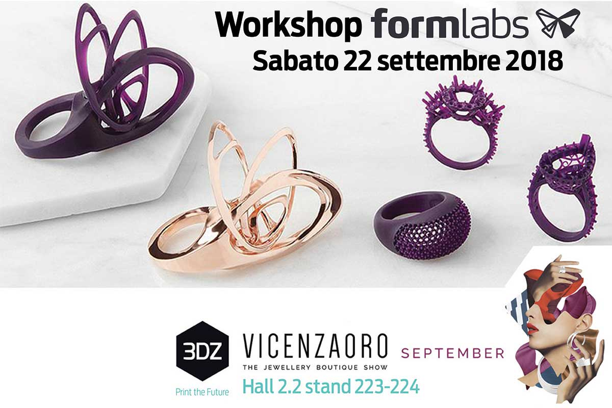 Workshop 3DZ VicenzaOro Formlabs
